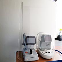 Hygiënescherm / preventiescherm voor instrumenten (hoog model)