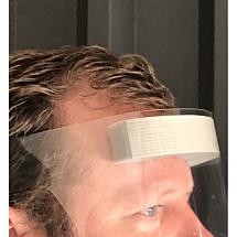 Face-shield met foamrand