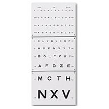 Visuskaart letters opvouwbaar, 3 meter