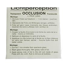 Bangerter occlusiefolie lichtperceptie