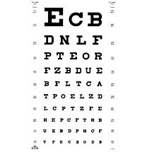 Oculus Visuskaart SLOAN Letters 5 en 6 meter Type 1