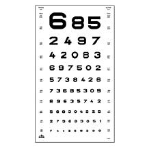 Oculus Visuskaart Cijfers 5 en 6 meter Type 1