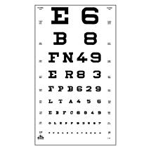 Oculus Visuskaart Letters/Cijfers 5 en 6 meter
