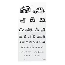 Visuskaart kinderplaatjes (wit)