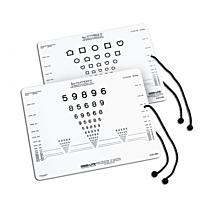 Visuskaart nabij LEA symbolen/cijfers