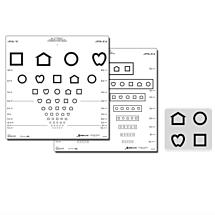 Visuskaart LEA symbolen en E-haken, wit (4 en 5 meter)